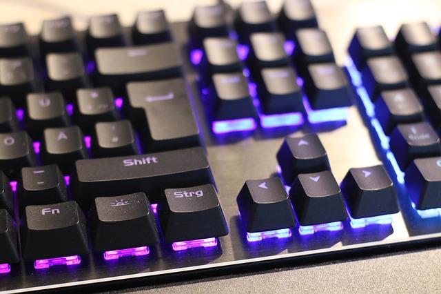 Osvětlená klávesnice
